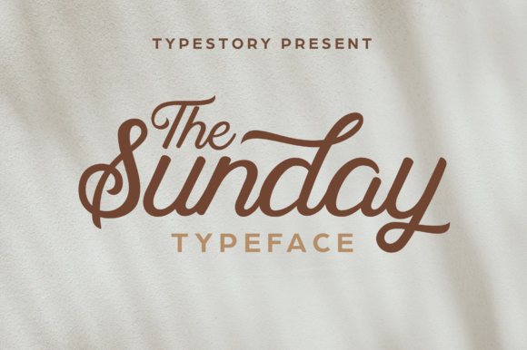 Print on Demand: The Sunday Script & Handwritten Font By Typestory