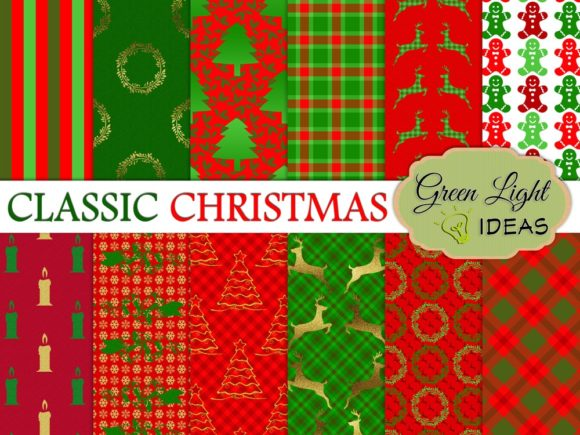 Classic Christmas Scrapbook Backgrounds Graphic Backgrounds By GreenLightIdeas