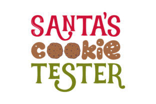 Santa's Cookie Tester Craft Design By Creative Fabrica Crafts