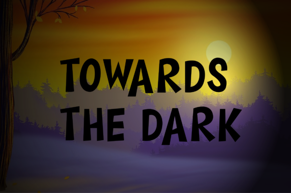 Print on Demand: Towards the Dark Display Font By anasofart