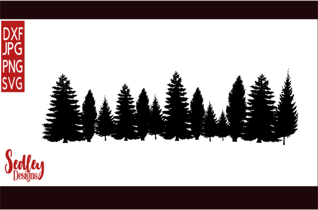 Download Free Tree Line Silhouette Graphic By Sedley Designs Creative Fabrica for Cricut Explore, Silhouette and other cutting machines.