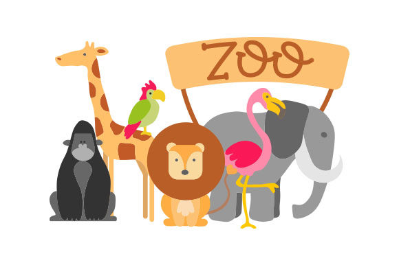 Download Free Zoo Animals Svg Cut File By Creative Fabrica Crafts Creative for Cricut Explore, Silhouette and other cutting machines.