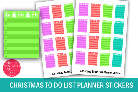Download Free Christmas Planner Stickers Bundle Graphic By Happy Printables for Cricut Explore, Silhouette and other cutting machines.