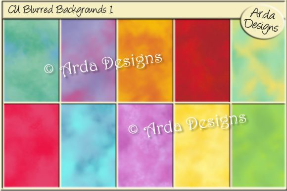 Print on Demand: CU Blurred Backgrounds Graphic Backgrounds By Arda Designs