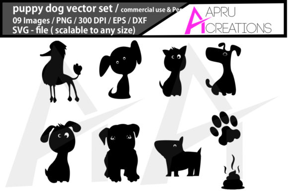 Print on Demand: Puppy Dog Graphic Icons By aparnastjp