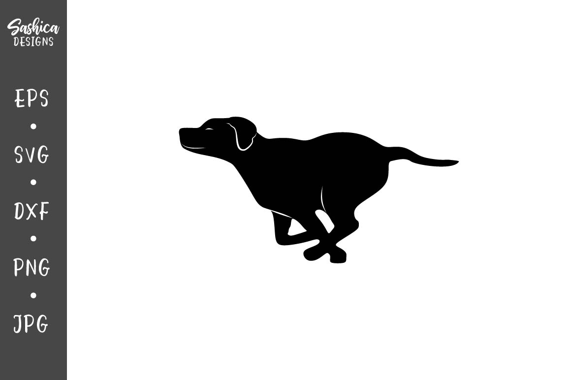 Download Free Running Dog Vector Graphic By Sashica Designs Creative Fabrica for Cricut Explore, Silhouette and other cutting machines.