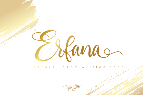 Print on Demand: Erfana Script & Handwritten Font By Unflea Studio