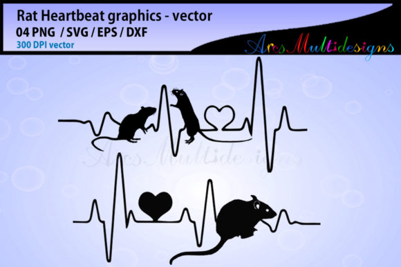 Download Free Rat Heartbeat Silhouette Vector Graphic By Arcs Multidesigns for Cricut Explore, Silhouette and other cutting machines.