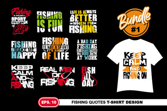 Download Free Fishing Quotes T Shirt Design Eps 10 Graphic By Ahsancomp SVG Cut Files