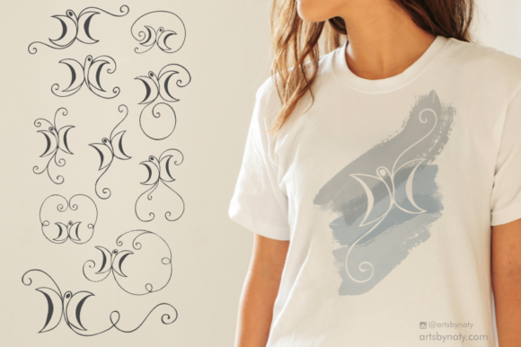 Print on Demand: Butterfly Arabesque Ornament Graphic Illustrations By artsbynaty - Image 1