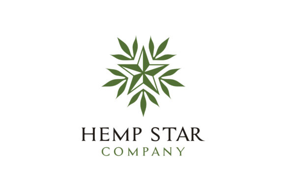Download Free Star Cannabis Leaf Hemp Cbd Logo Graphic By Enola99d Creative for Cricut Explore, Silhouette and other cutting machines.