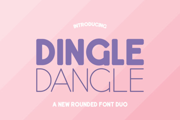 Dingle Dangle Duo Sans Serif Font By Salt & Pepper Designs