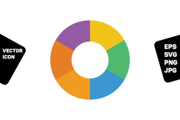 Download Free Pie Donut Chart Icon Graphic By Tuktuk Design Creative Fabrica for Cricut Explore, Silhouette and other cutting machines.
