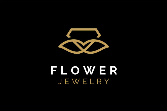 Download Free Golden Rose Flower Diamond Jewelry Logo Grafico Por Enola99d for Cricut Explore, Silhouette and other cutting machines.