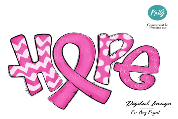 Print on Demand: Hope Sublimation Breast Cancer Awareness Graphic Illustrations By adlydigital