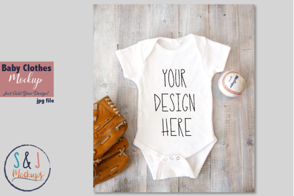 Kids Clothes Mockup Baby Clothes Mockup Graphic Product Mockups By sandjmockups - Image 1