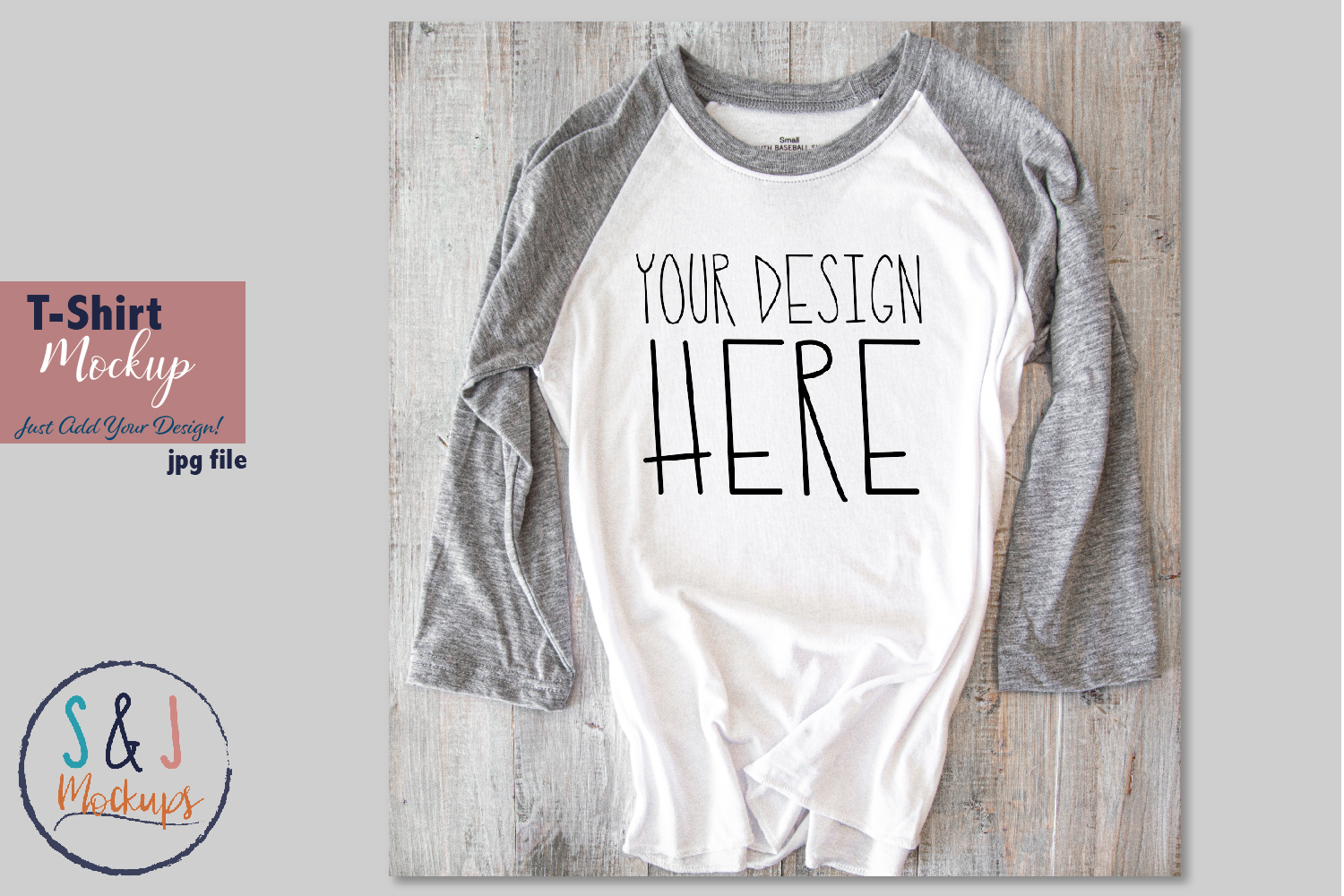 Download Free Raglan Shirt Mockup Tshirt Mockup Graphic By Sandjmockups for Cricut Explore, Silhouette and other cutting machines.