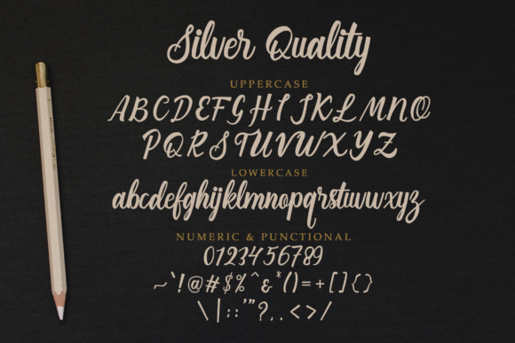 Print on Demand: Silver Quality Script & Handwritten Font By Typia Nesia - Image 7