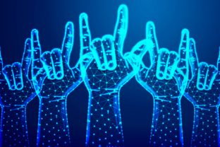 Rock Sign Gesture for Music Festival Graphic By ojosujono96