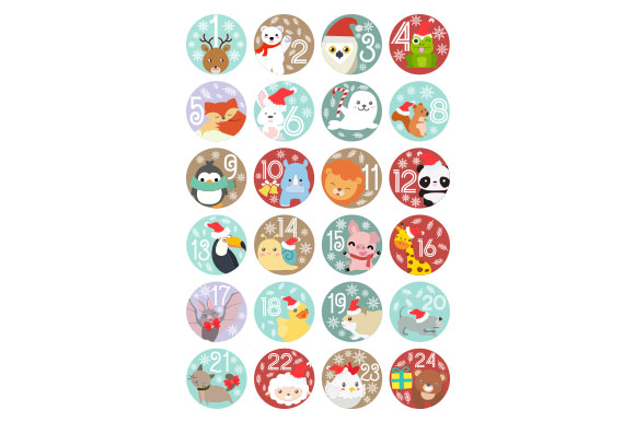 Download Free Advent Calendar With Animals Svg Cut File By Creative Fabrica for Cricut Explore, Silhouette and other cutting machines.
