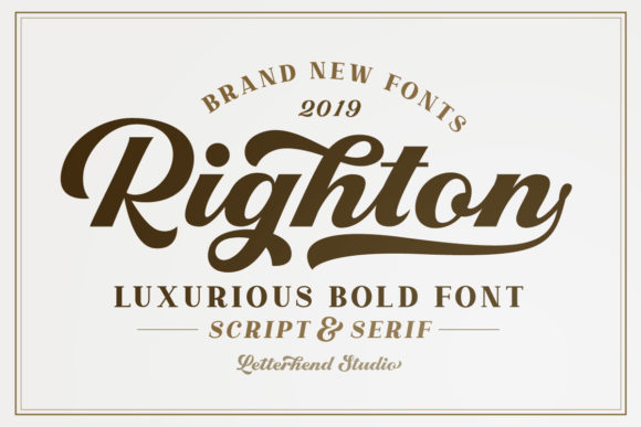 Print on Demand: Righton Script & Handwritten Font By letterhend