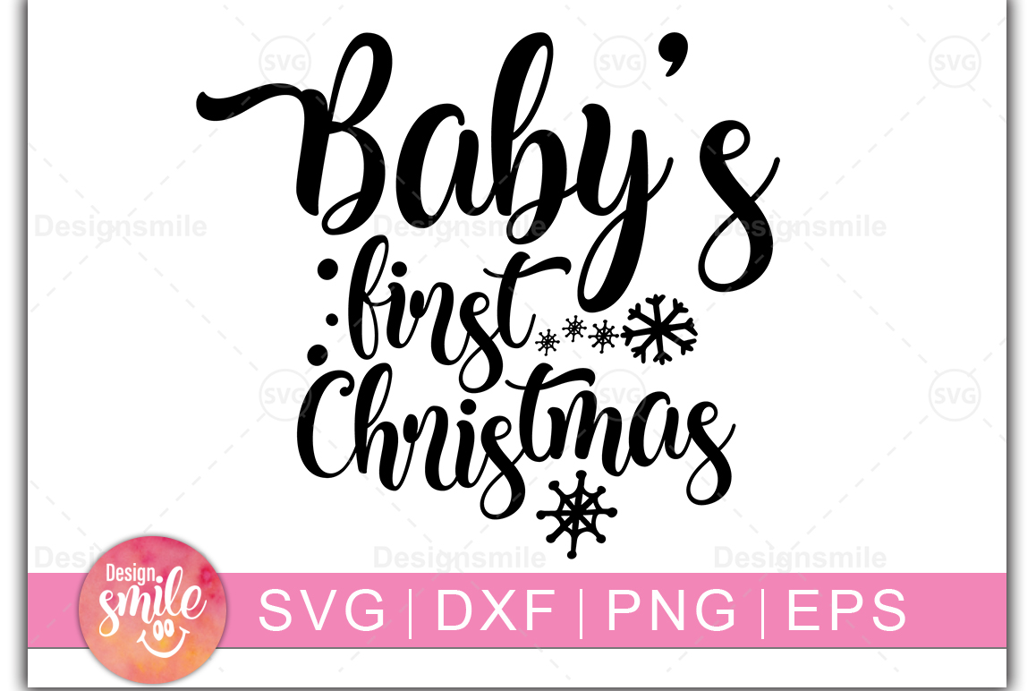 Baby S First Christmas Graphic By Designdealy Com Creative Fabrica