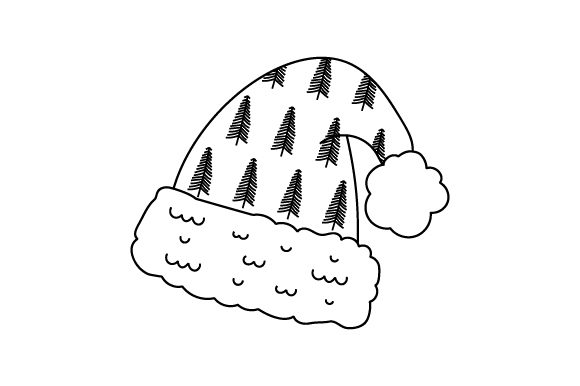 Christmas Hat Line Art Style Christmas Craft Cut File By Creative Fabrica Crafts