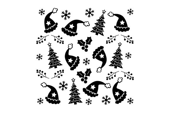 Download Free Christmas Hat With X Mas Tree Pattern Svg Cut File By Creative for Cricut Explore, Silhouette and other cutting machines.