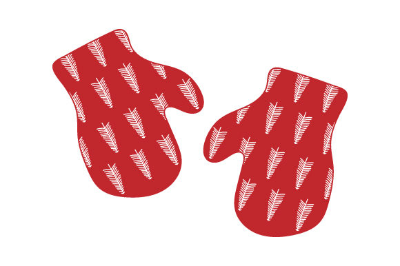 Christmas Mittens Scandanavian Style Christmas Craft Cut File By Creative Fabrica Crafts