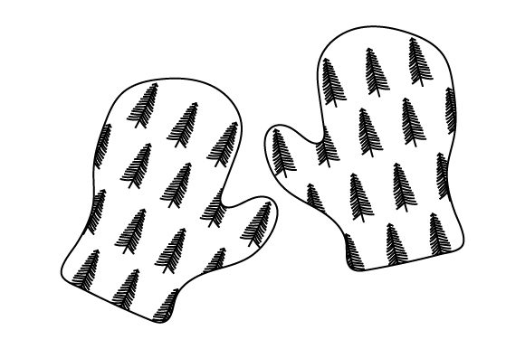 Christmas Mittens Line Art Style Christmas Craft Cut File By Creative Fabrica Crafts