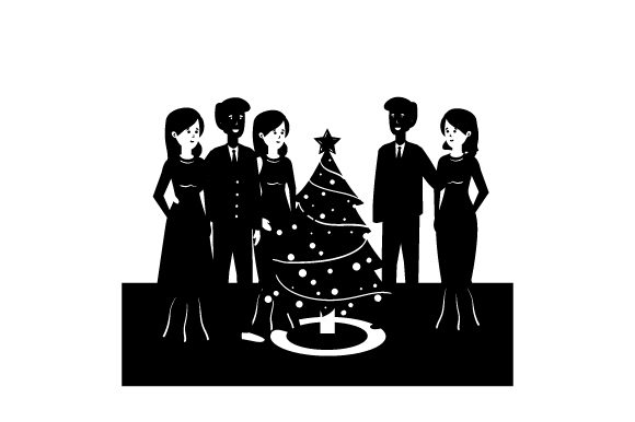 Download Free Christmas Party Scene Svg Cut File By Creative Fabrica Crafts for Cricut Explore, Silhouette and other cutting machines.