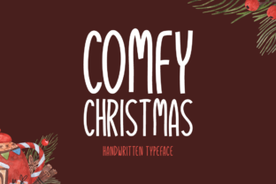 Print on Demand: Comfy Christmas Display Font By Instagram Fonts