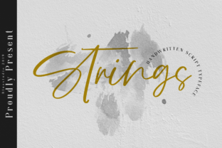 Strings Manuscrita Fuente Por Bluestudio