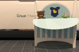 How to make a Baby Crib Box Card
