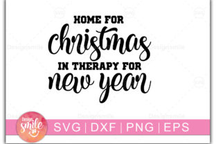 Print on Demand: Home for Christmas in Therapy Graphic Crafts By Designdealy