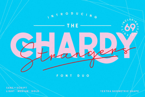 Print on Demand: Chardy Display Font By 160 Studio