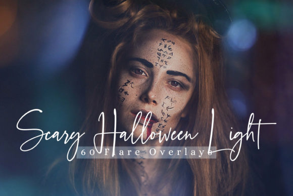 60 Scary Halloween Lights Effect Overlay Graphic By 3Motional