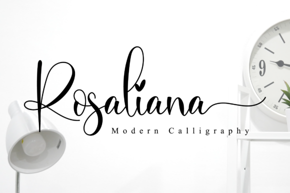 Print on Demand: Rosaliana Script Manuscrita Fuente Por NissaStudio