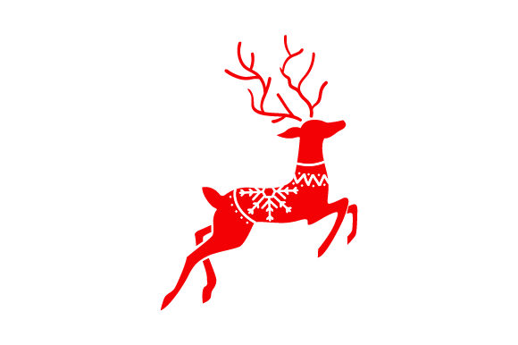 Scandanvian Reindeer Christmas Archivo de Corte Craft Por Creative Fabrica Crafts