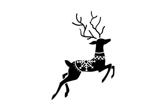 Scandanvian Reindeer Christmas Craft Cut File By Creative Fabrica Crafts - Image 2