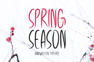 Print on Demand: Spring Season Display Font By Instagram Fonts 1