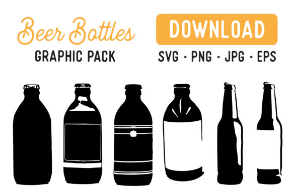 Print on Demand: Beer Bottle Vector Graphic Illustrations By The Gradient Fox