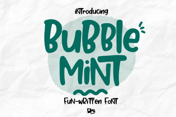 Print on Demand: Bubble Mint Display Font By dmletter31