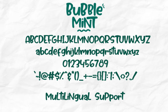 Print on Demand: Bubble Mint Display Font By dmletter31 - Image 7