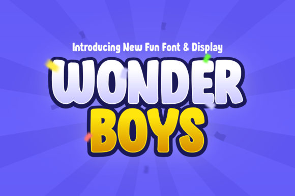 Print on Demand: Wonder Boys Display Font By sensatype