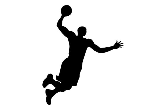 Basketball Player Jumping And Ball Icon Graphic By Graphicrun123 Creative Fabrica