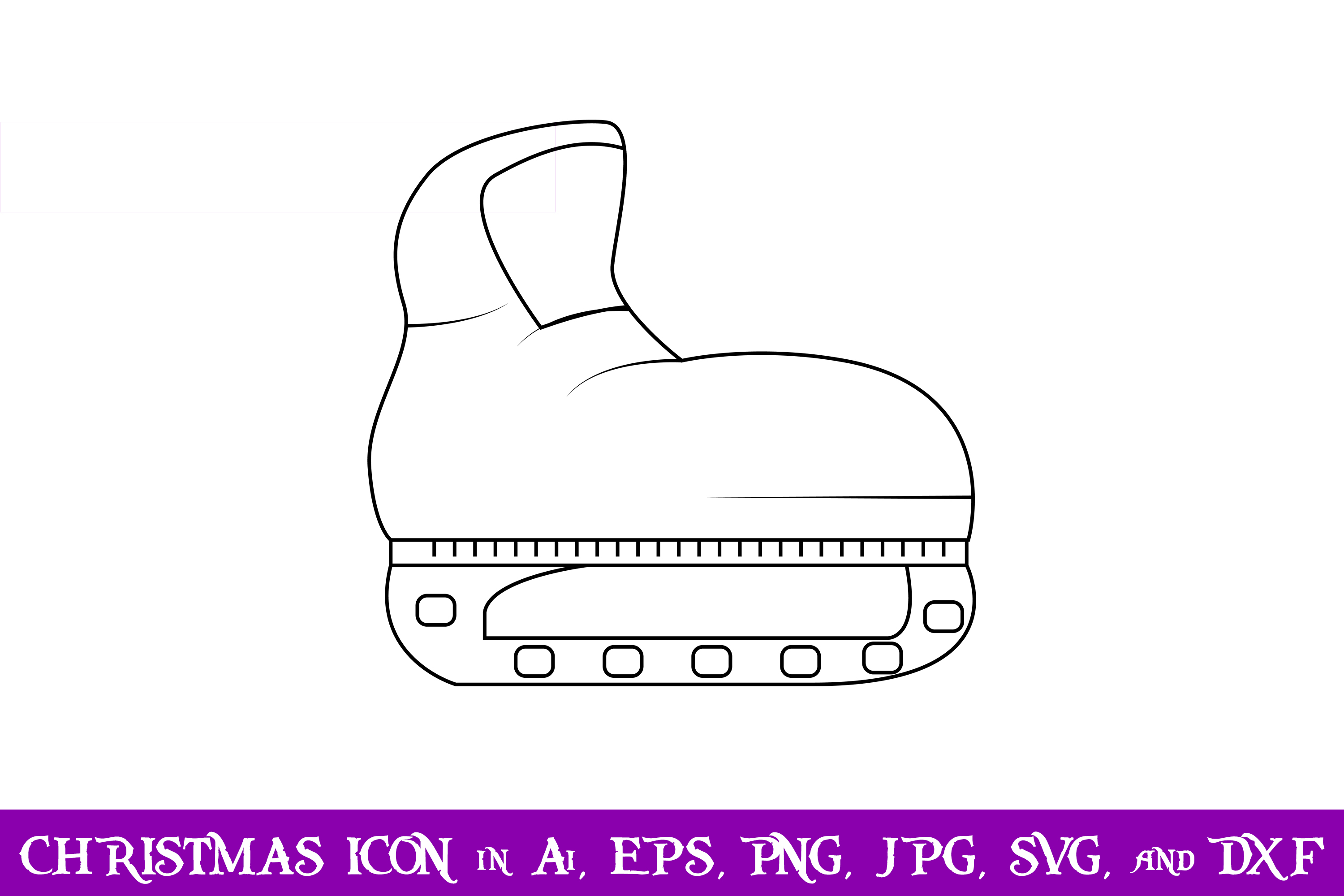 Download Free Ice Skate Christmas Icon Grafico Por Purplespoonpirates for Cricut Explore, Silhouette and other cutting machines.