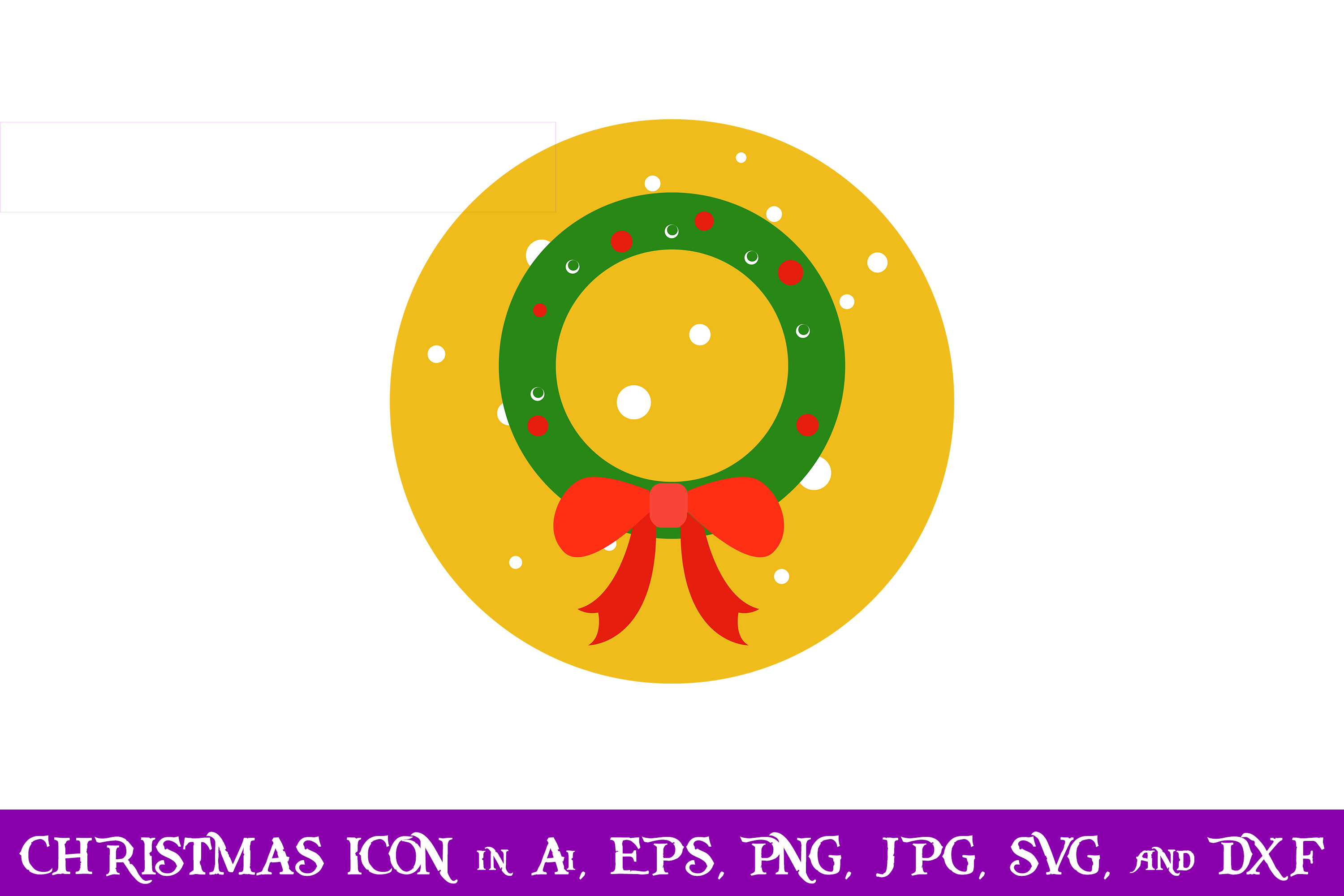 Download Free Wreath Christmas Icon Graphic By Purplespoonpirates Creative for Cricut Explore, Silhouette and other cutting machines.