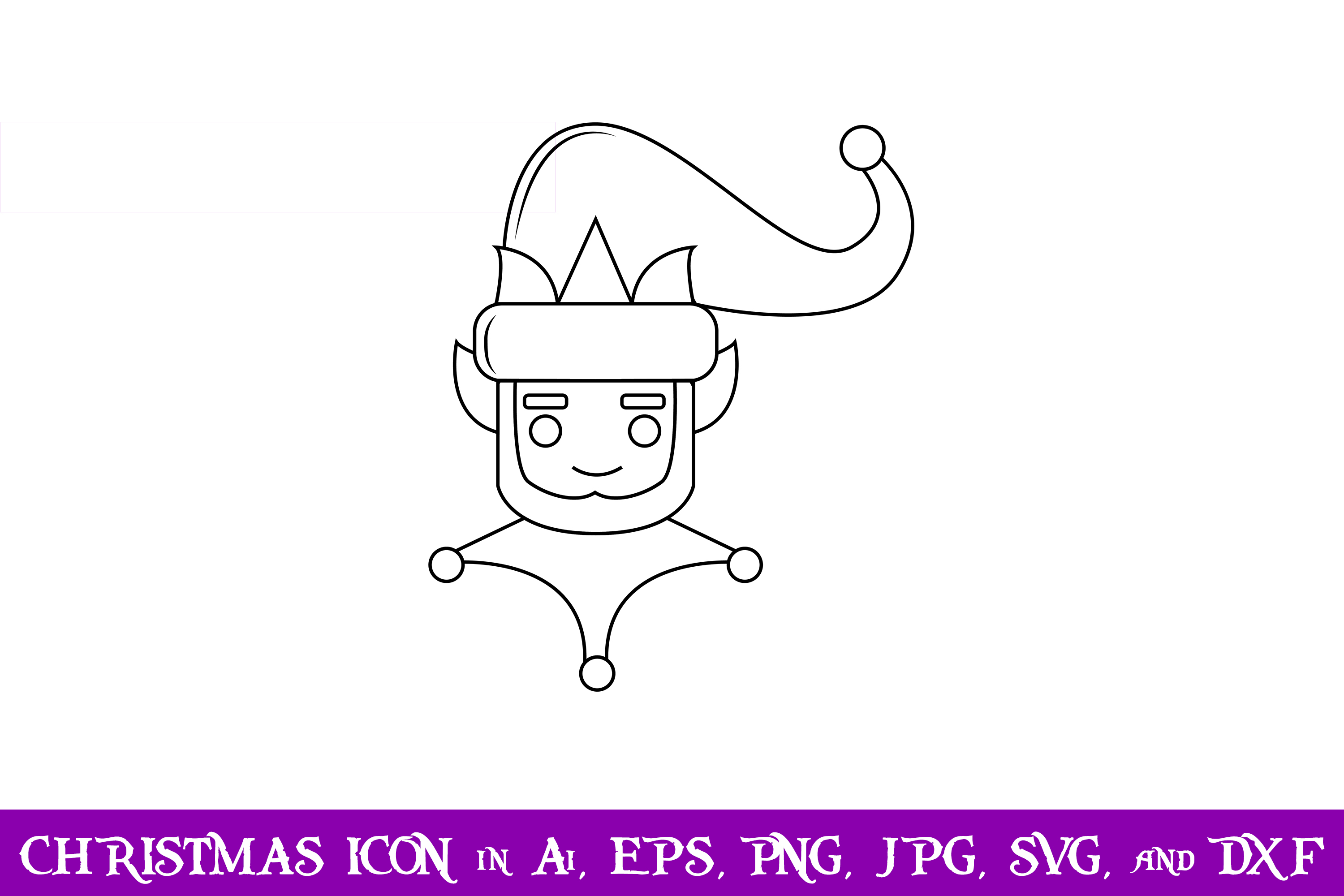 Download Free Elf Christmas Icon Graphic By Purplespoonpirates Creative Fabrica for Cricut Explore, Silhouette and other cutting machines.