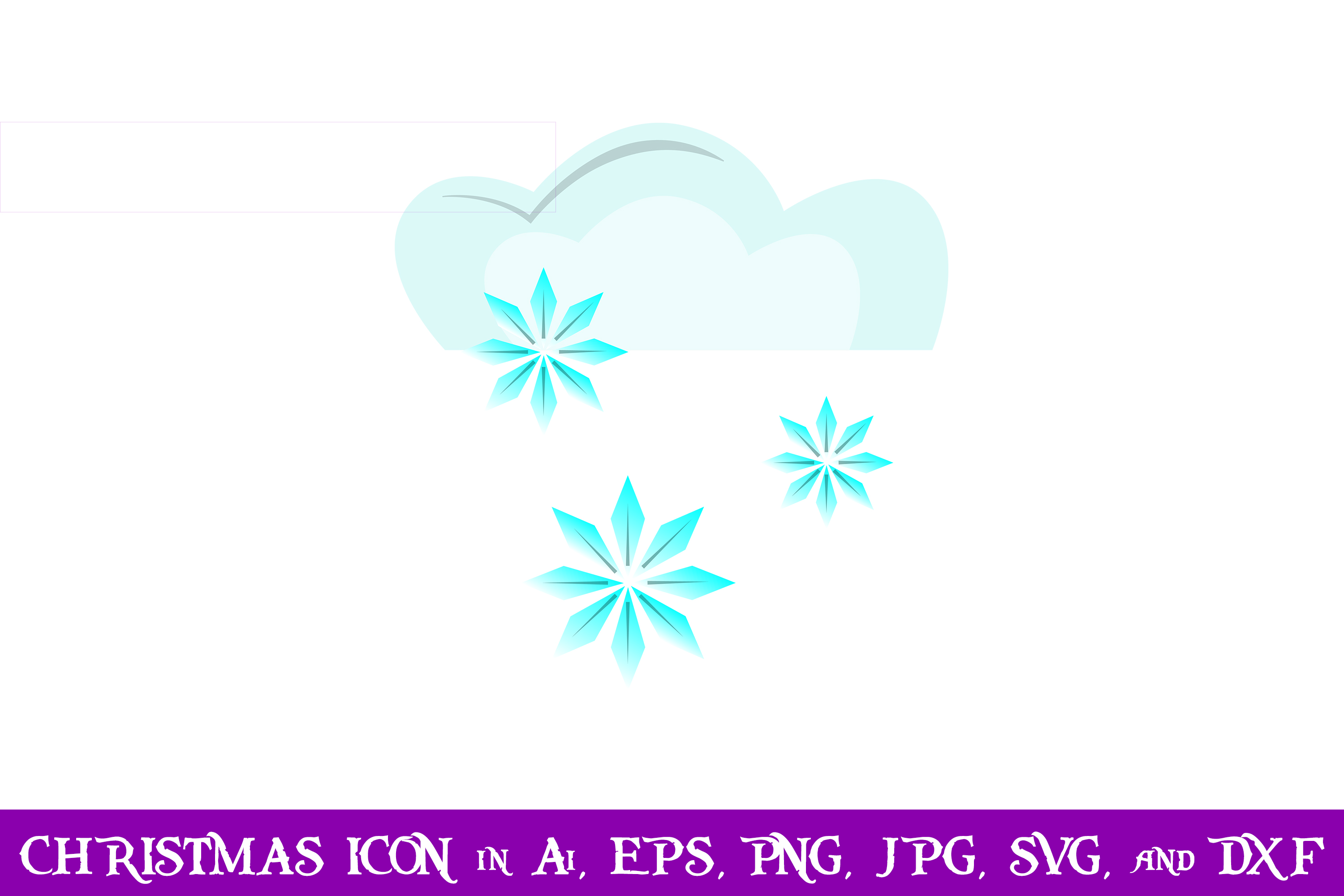 Download Free Snow Cloud Christmas Icon Graphic By Purplespoonpirates for Cricut Explore, Silhouette and other cutting machines.